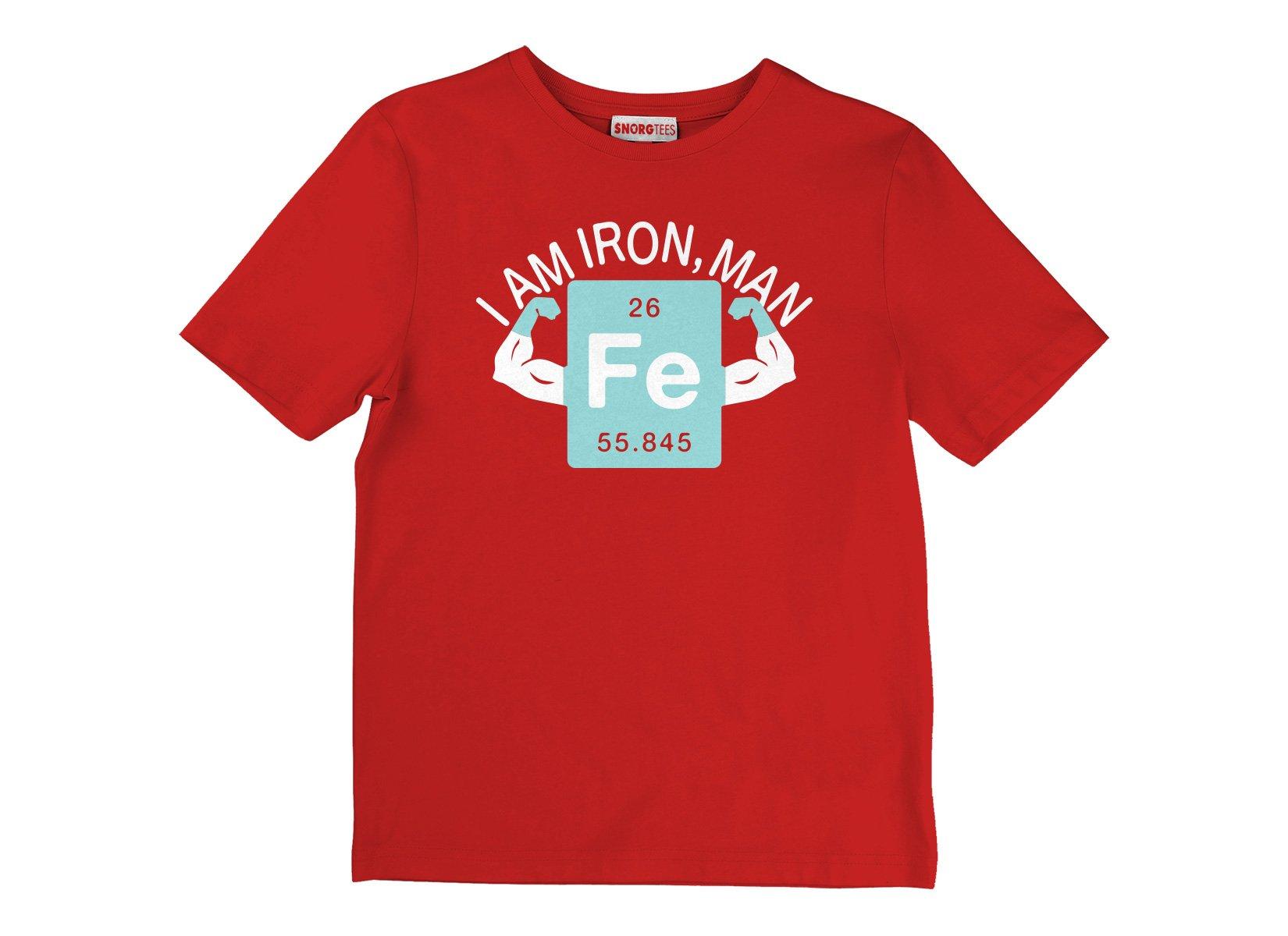 I Am Iron, Man on Kids T-Shirt
