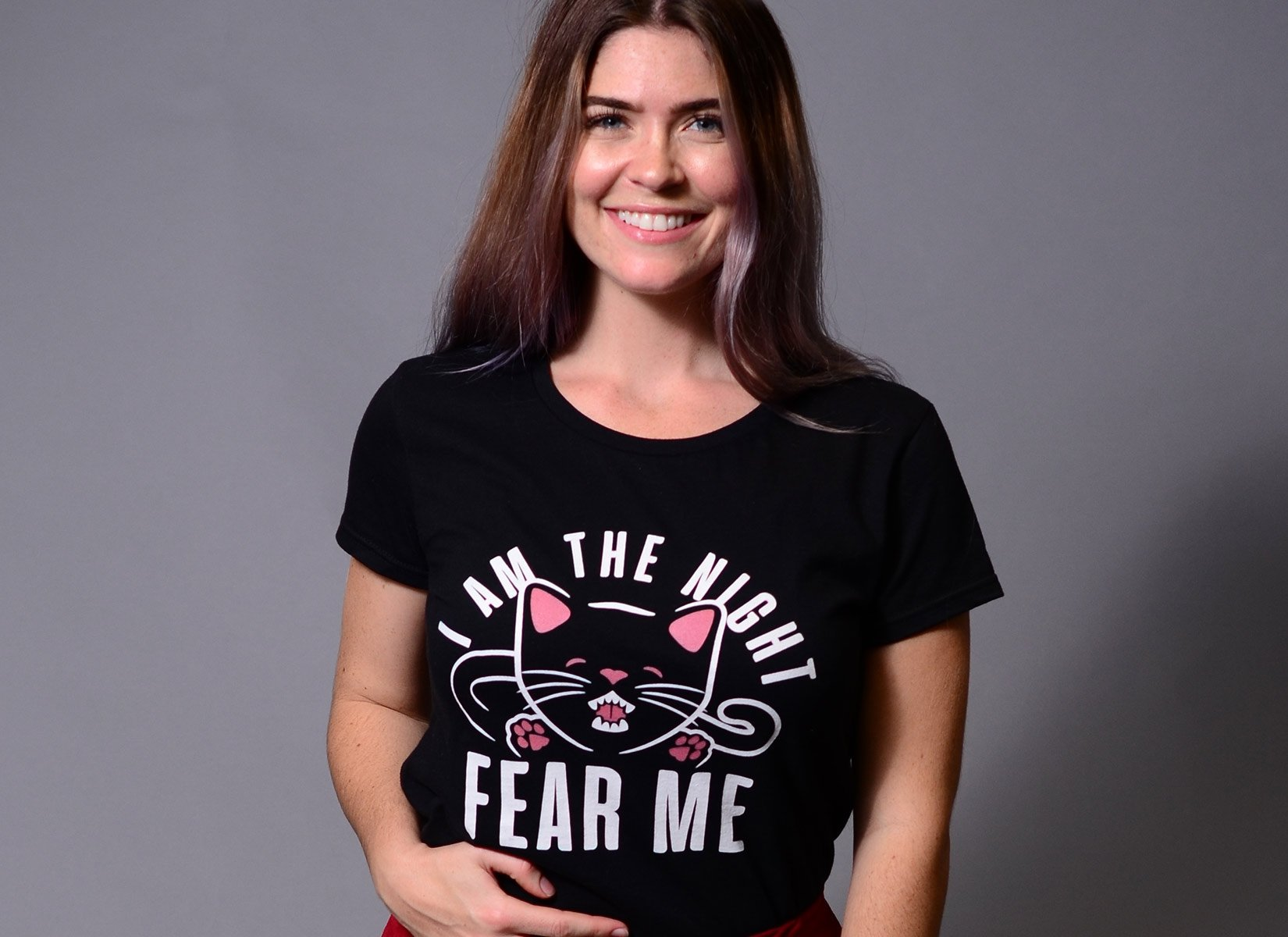 I Am The Night Fear Me on Womens T-Shirt