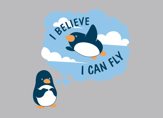 I Believe I Can Fly on Mens T-Shirt