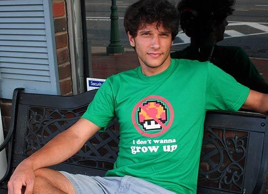 I Don't Wanna Grow Up on Mens T-Shirt
