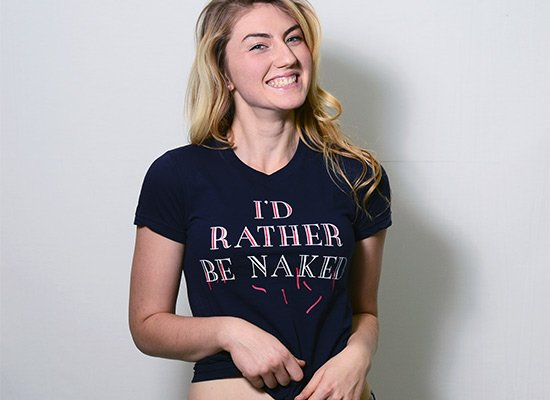 I'd Rather Be Naked on Juniors T-Shirt