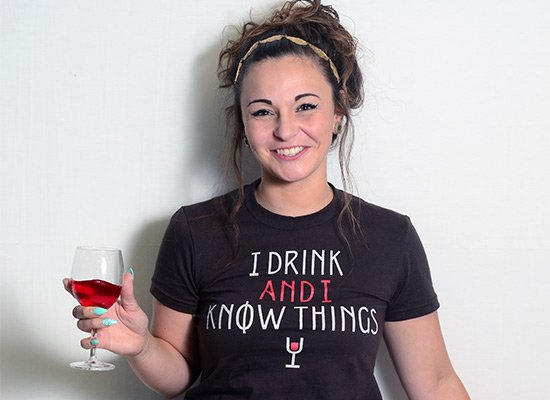 I Drink And I Know Things on Juniors T-Shirt