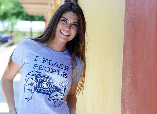 I Flash People on Juniors T-Shirt