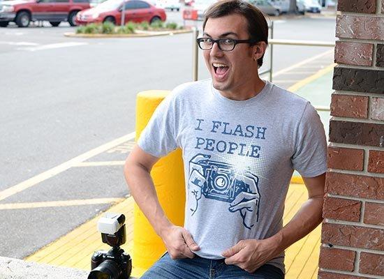 I Flash People on Mens T-Shirt