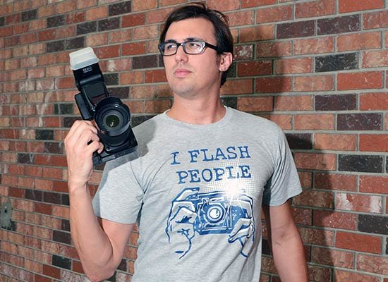 I Flash People on Mens T-Shirt