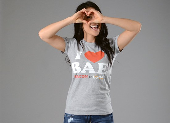I Heart Bae on Juniors T-Shirt