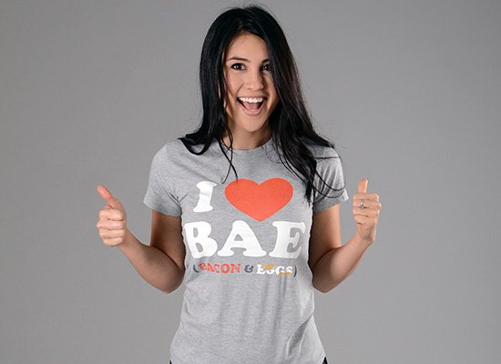 I Heart Bae on Juniors T-Shirt