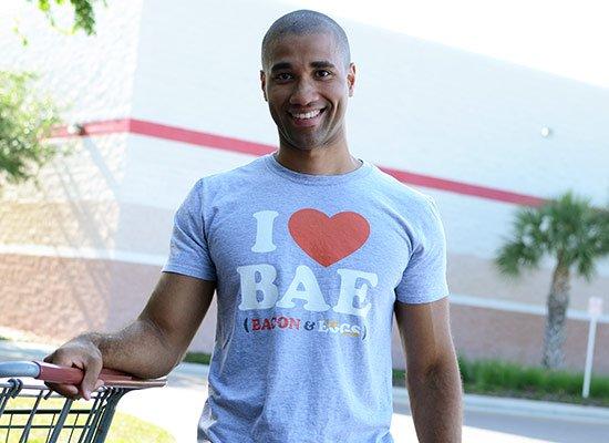 I Heart Bae on Mens T-Shirt