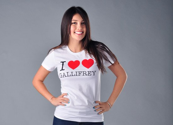 I Heart Heart Gallifrey on Juniors T-Shirt