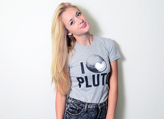 I Heart Pluto on Juniors T-Shirt