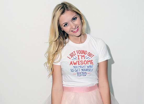 I'm Awesome, Get Yourself Tested on Juniors T-Shirt