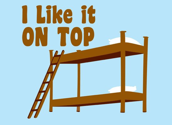 I Like It On Top on Mens T-Shirt
