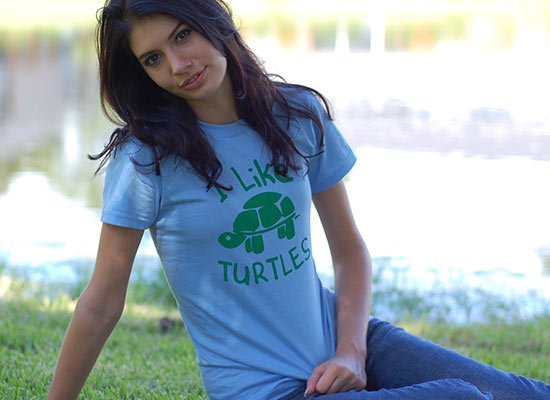 I Like Turtles on Juniors T-Shirt