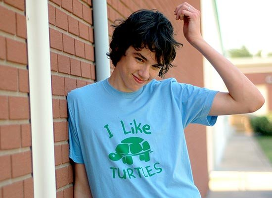 I Like Turtles on Mens T-Shirt