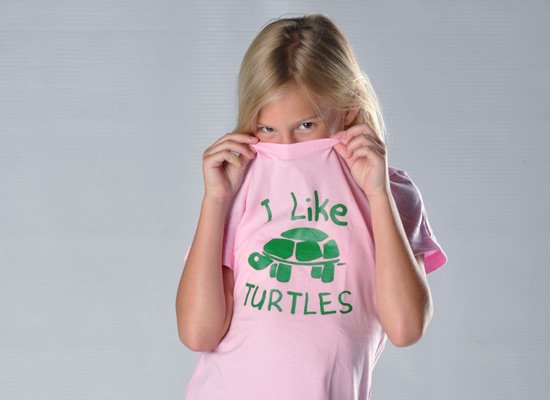I Like Turtles on Kids T-Shirt