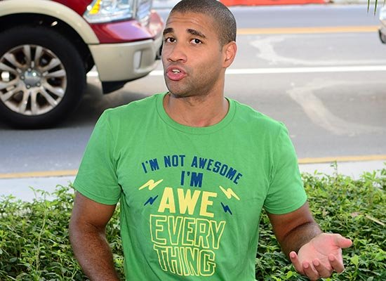 I'm Not Awesome, I'm Awe-Everything on Mens T-Shirt