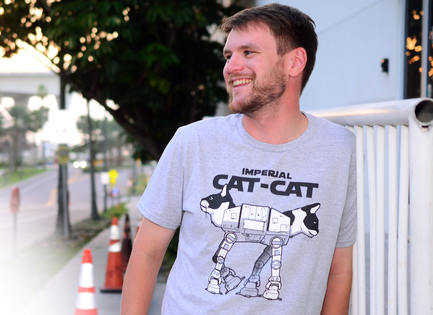 Cat-Cat on Mens T-Shirt