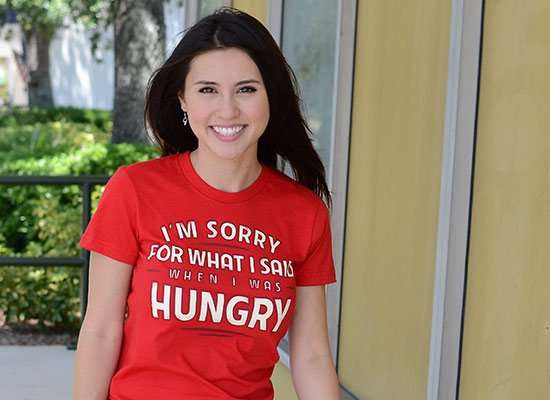What I Said When I Was Hungry on Juniors T-Shirt