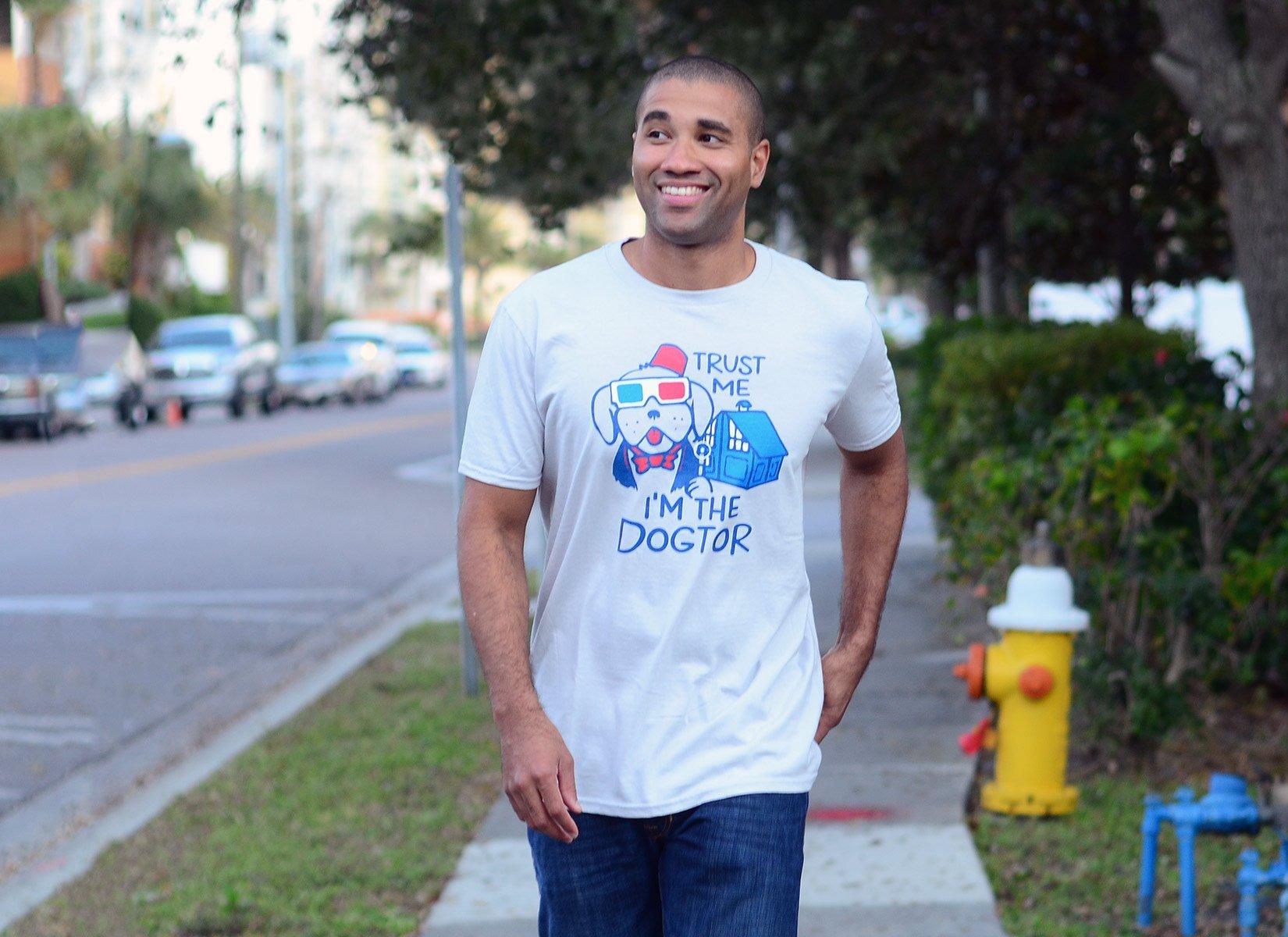 Trust Me, I'm The Dogtor on Mens T-Shirt