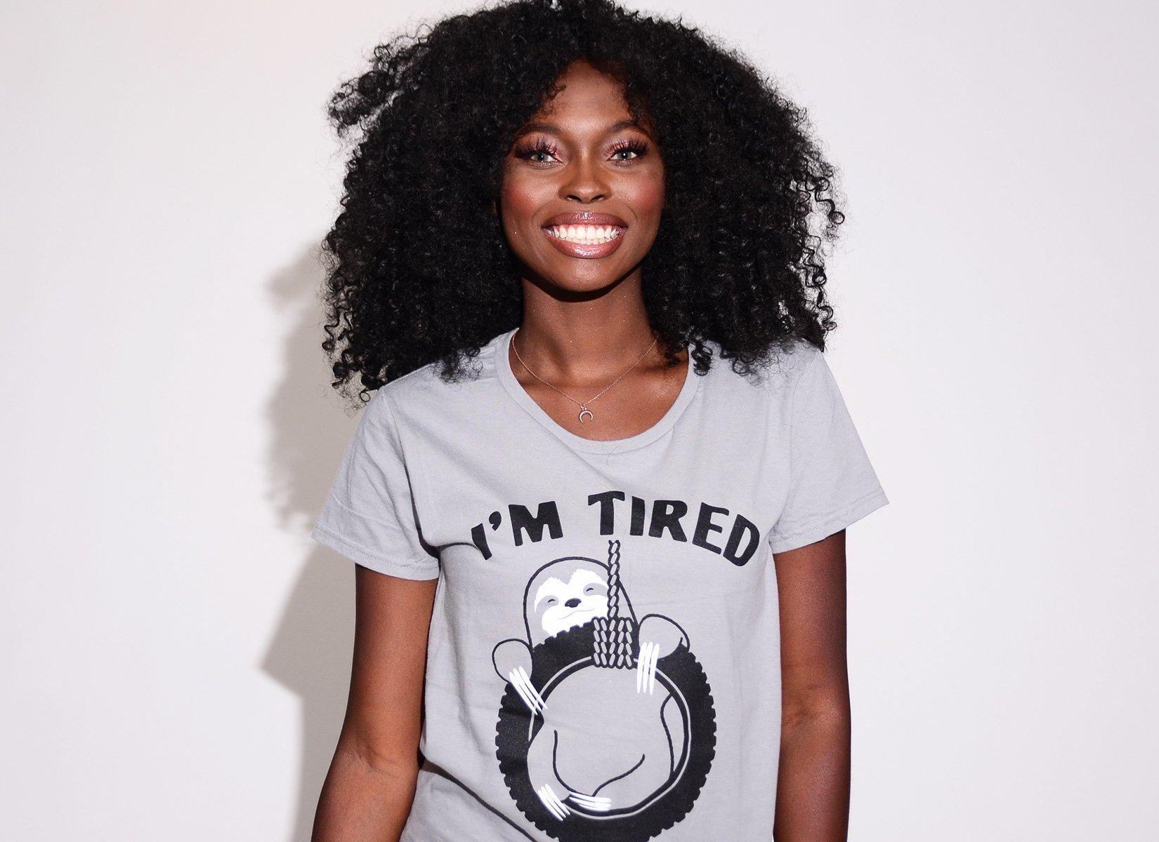 I'm Tired Sloth on Womens T-Shirt