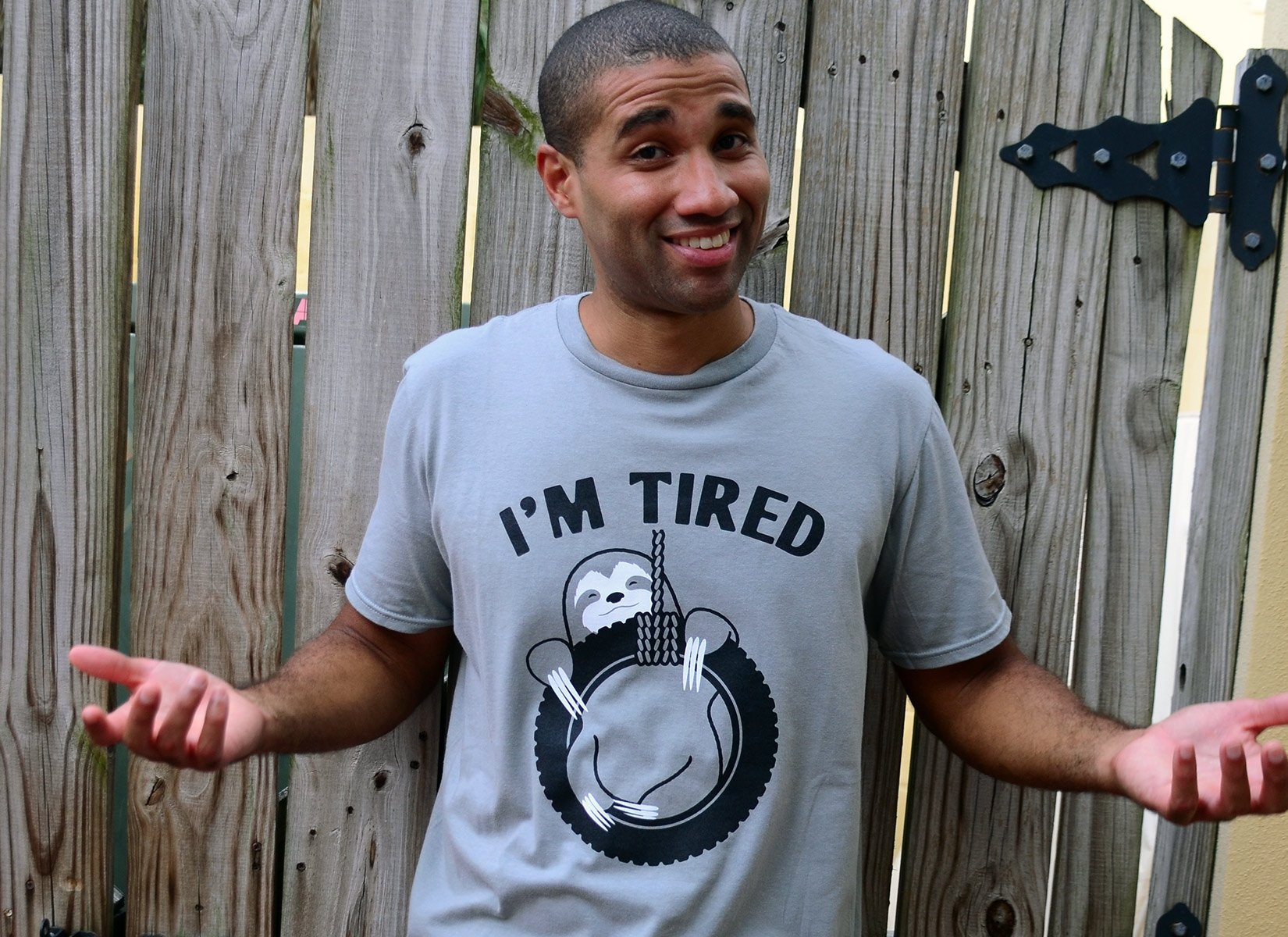 I'm Tired Sloth on Mens T-Shirt