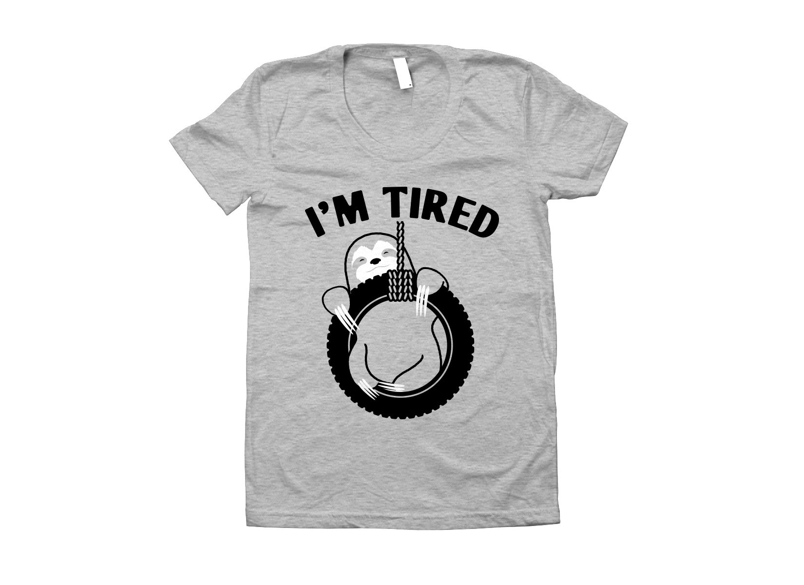 I'm Tired Sloth on Juniors T-Shirt