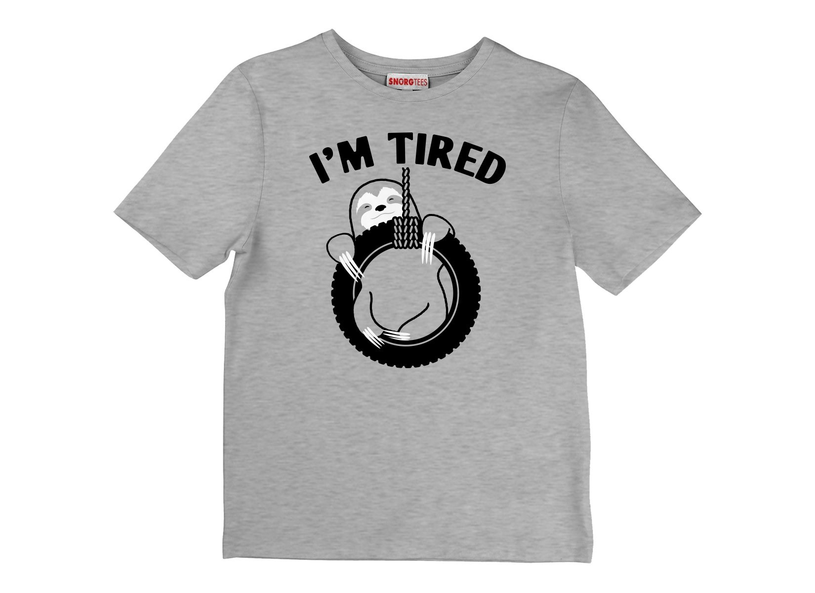 I'm Tired Sloth on Kids T-Shirt