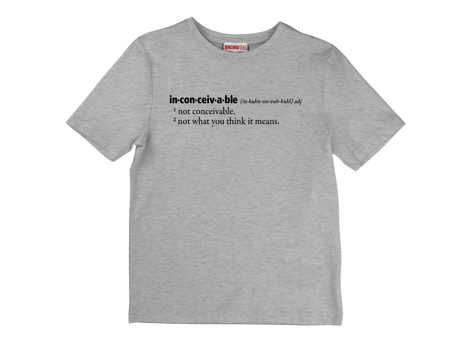Inconceivable Definition on Kids T-Shirt