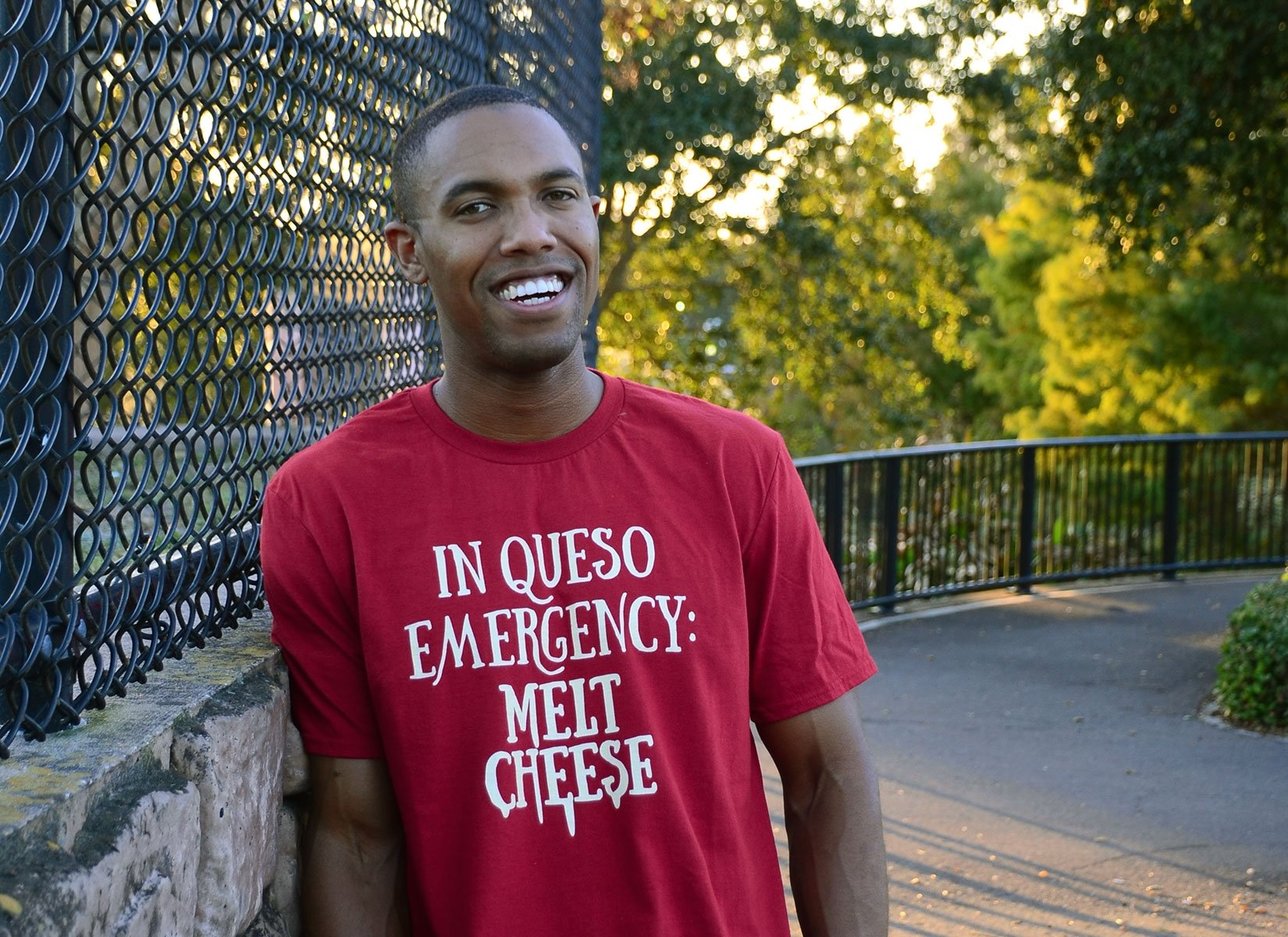 In Queso Emergency: Melt Cheese on Mens T-Shirt