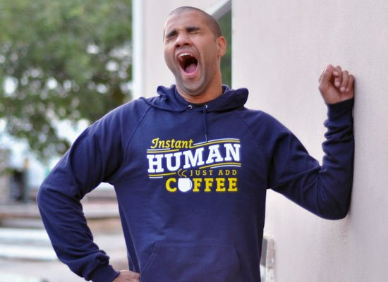 Instant Human Just Add Coffee on Hoodie