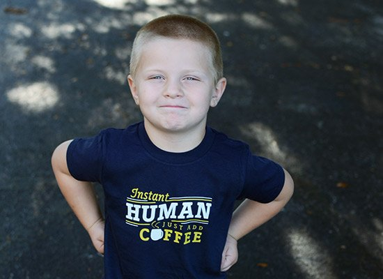 Instant Human Just Add Coffee on Kids T-Shirt