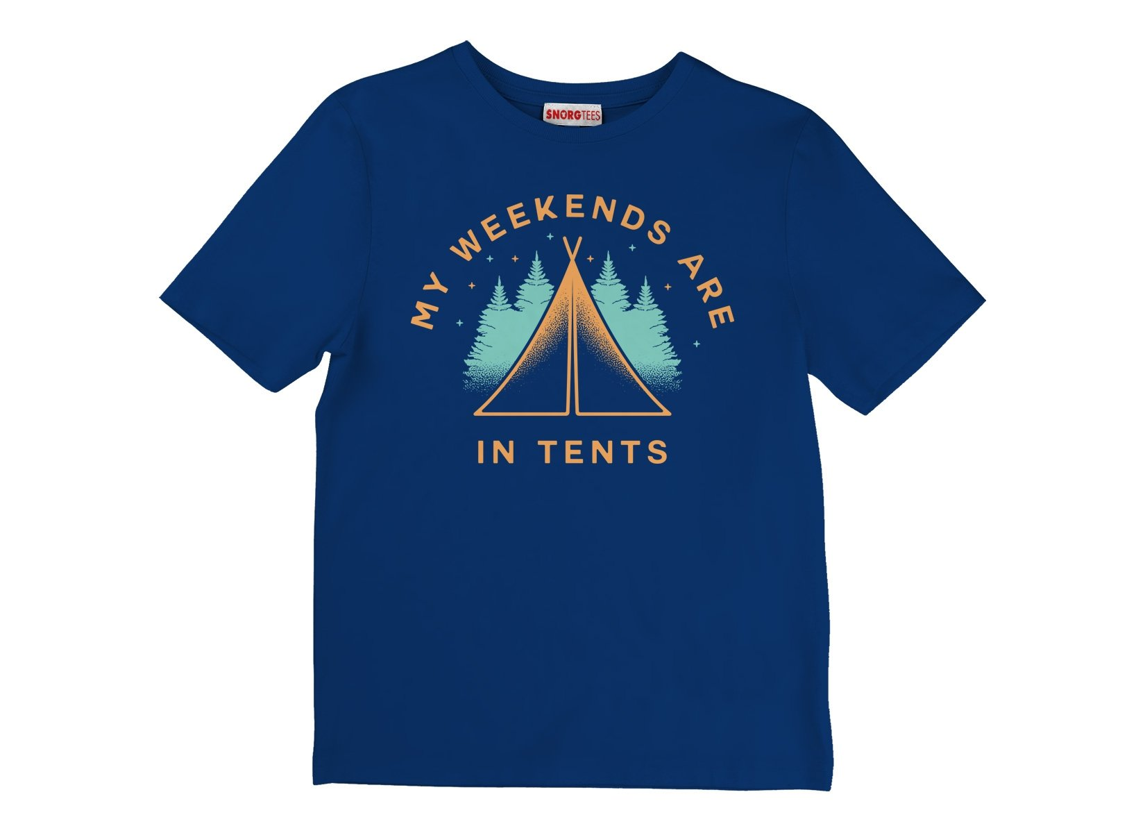 My Weekends Are In Tents on Kids T-Shirt