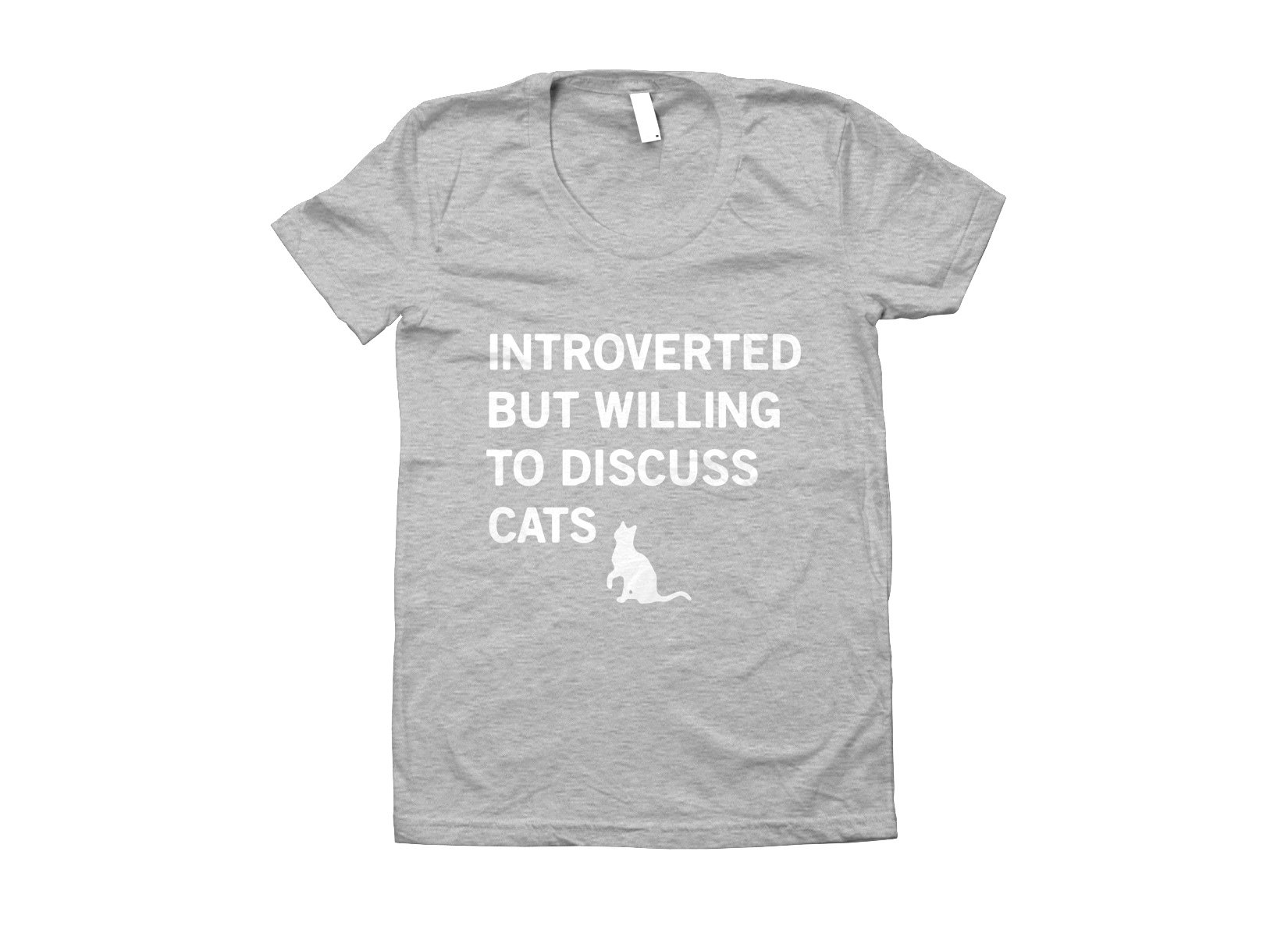 Introverted But Willing To Discuss Cats on Juniors T-Shirt