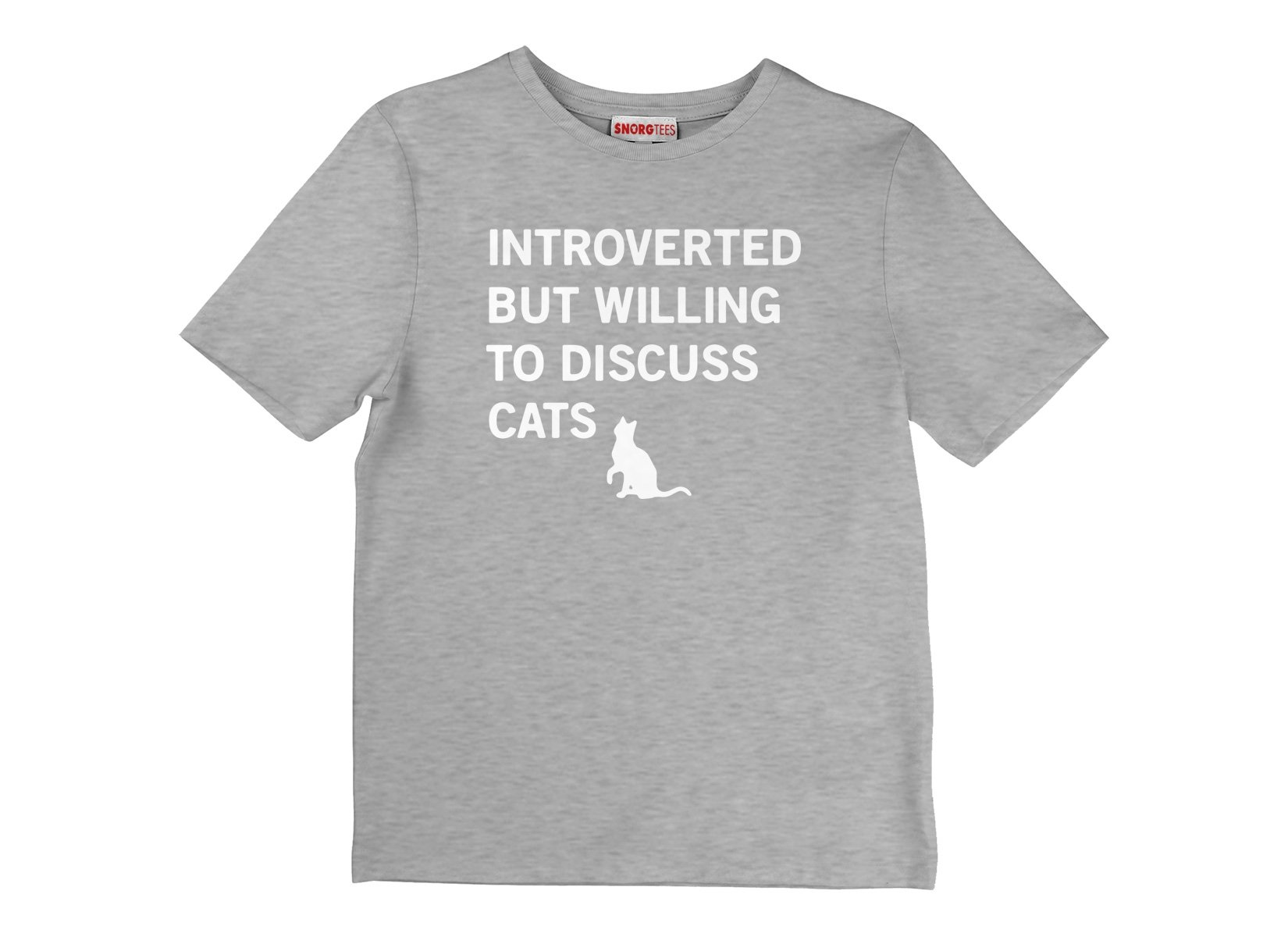 Introverted But Willing To Discuss Cats on Kids T-Shirt