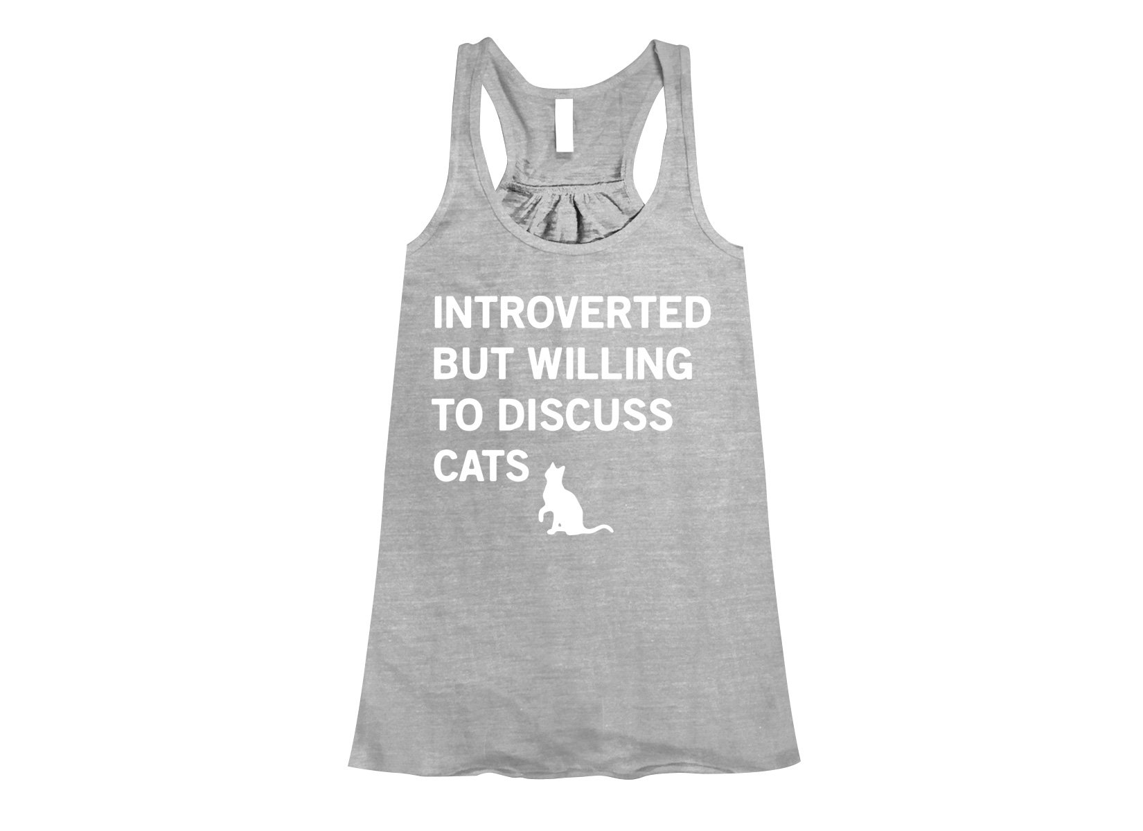 Introverted But Willing To Discuss Cats on Womens Tanks T-Shirt