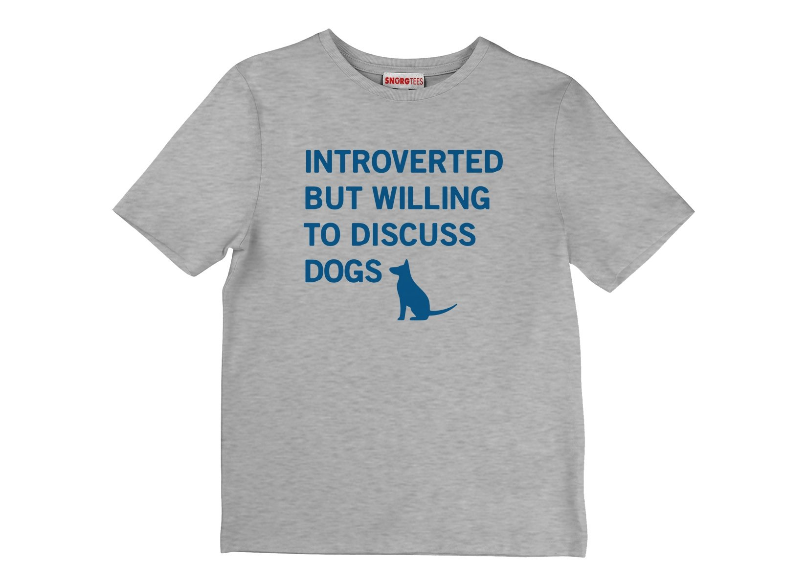 Introverted But Willing To Discuss Dogs on Kids T-Shirt