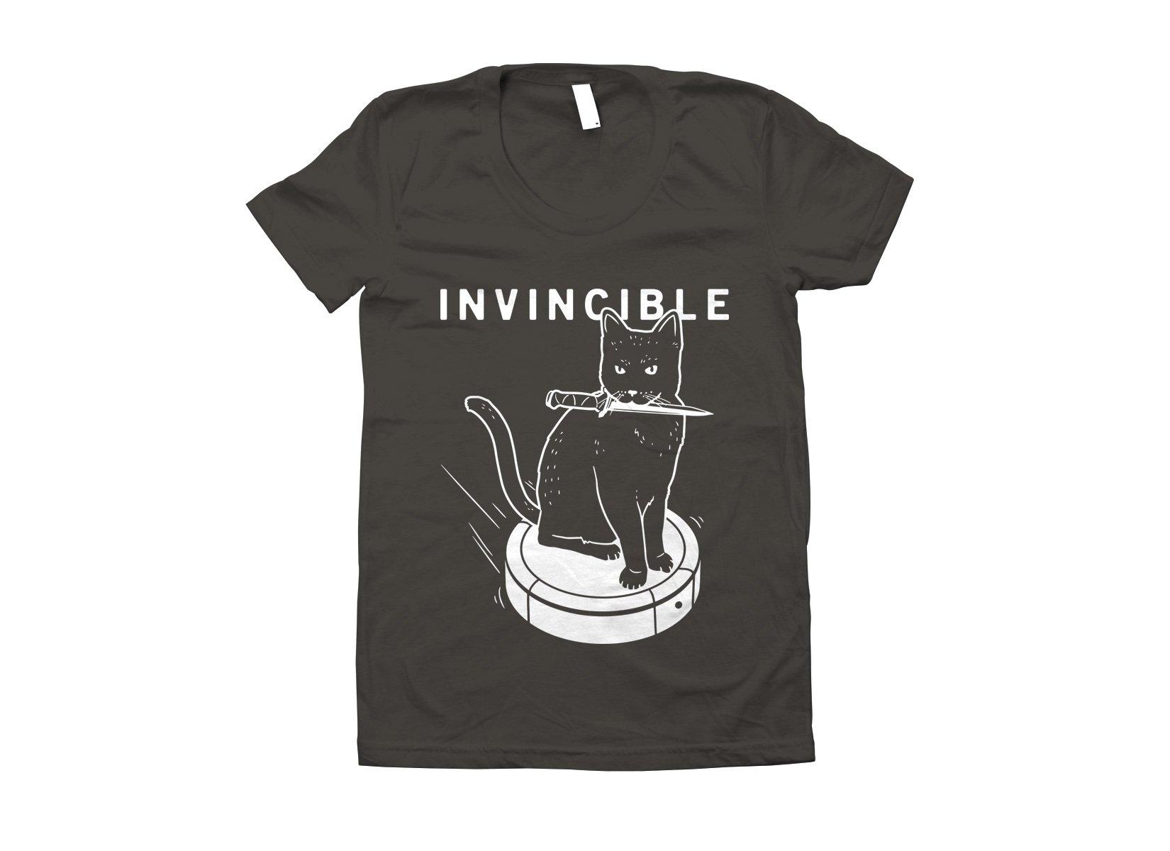 Invincible Cat on Juniors T-Shirt