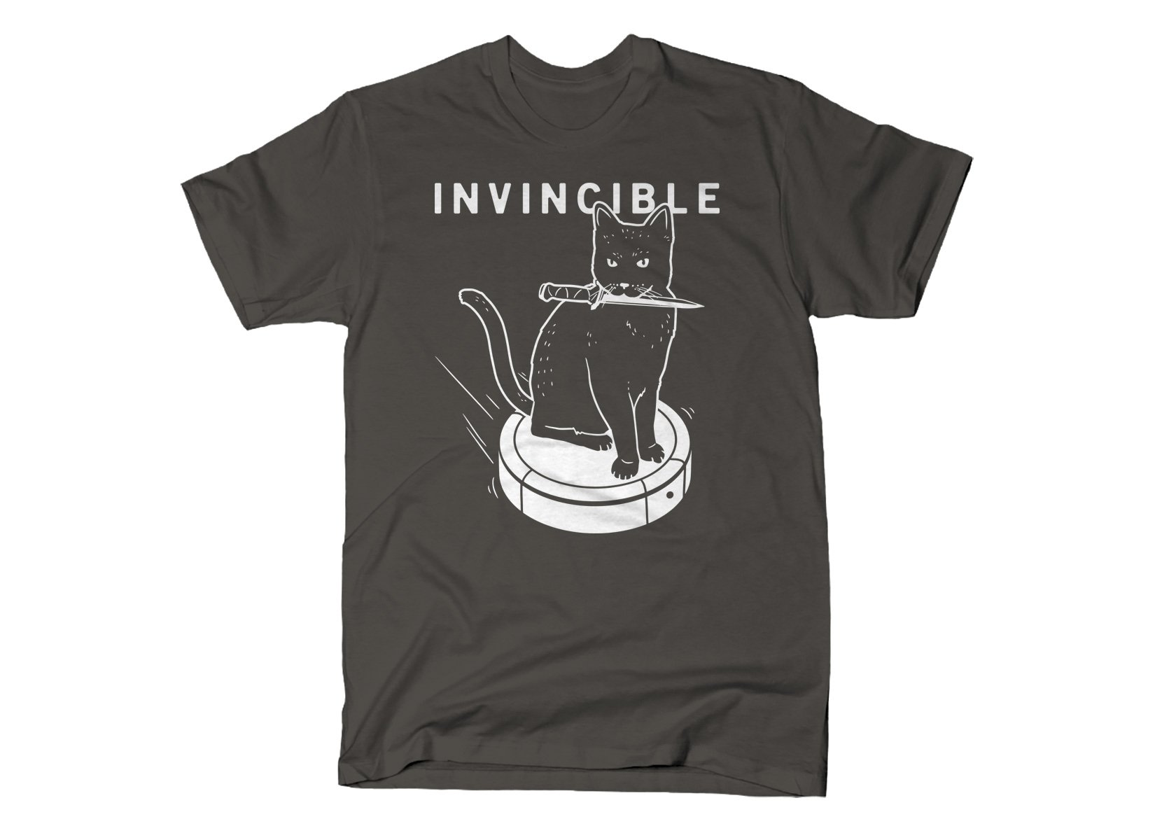 Invincible Cat on Mens T-Shirt
