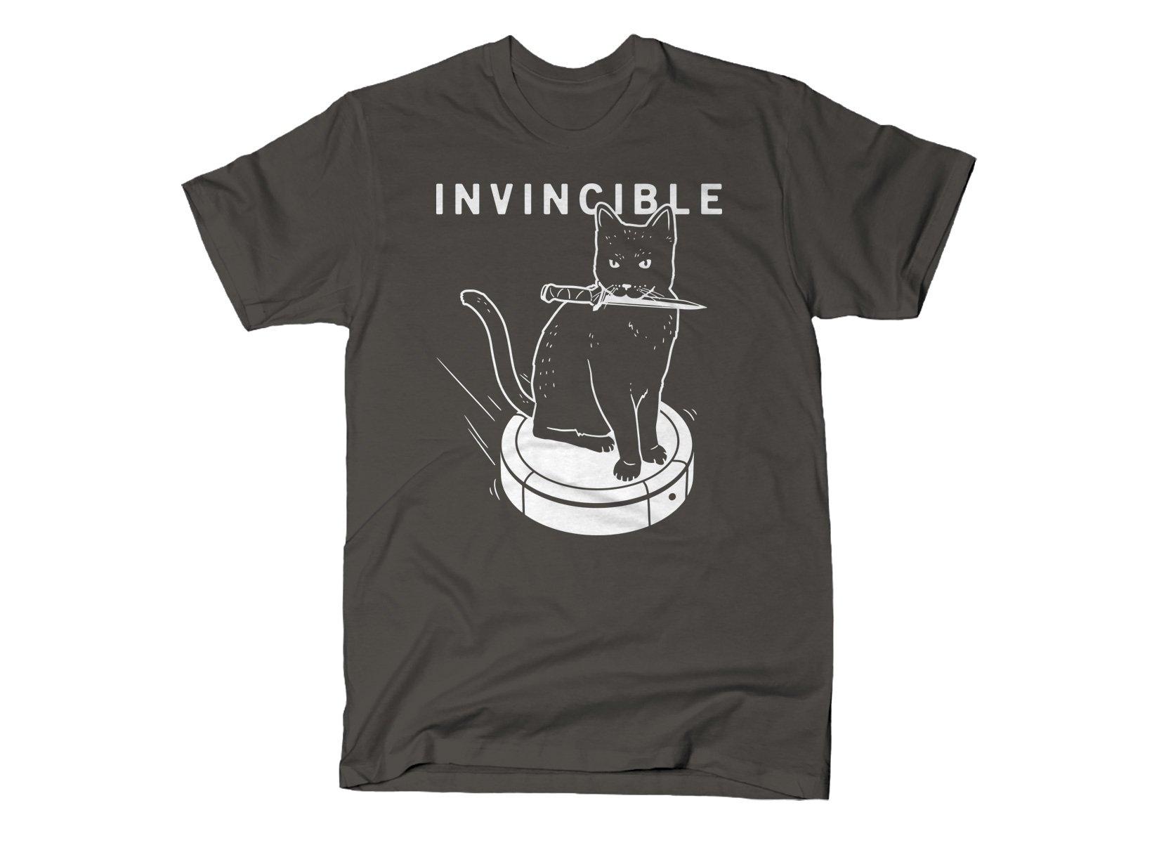 Invincible Cat on Mens T-Shirt