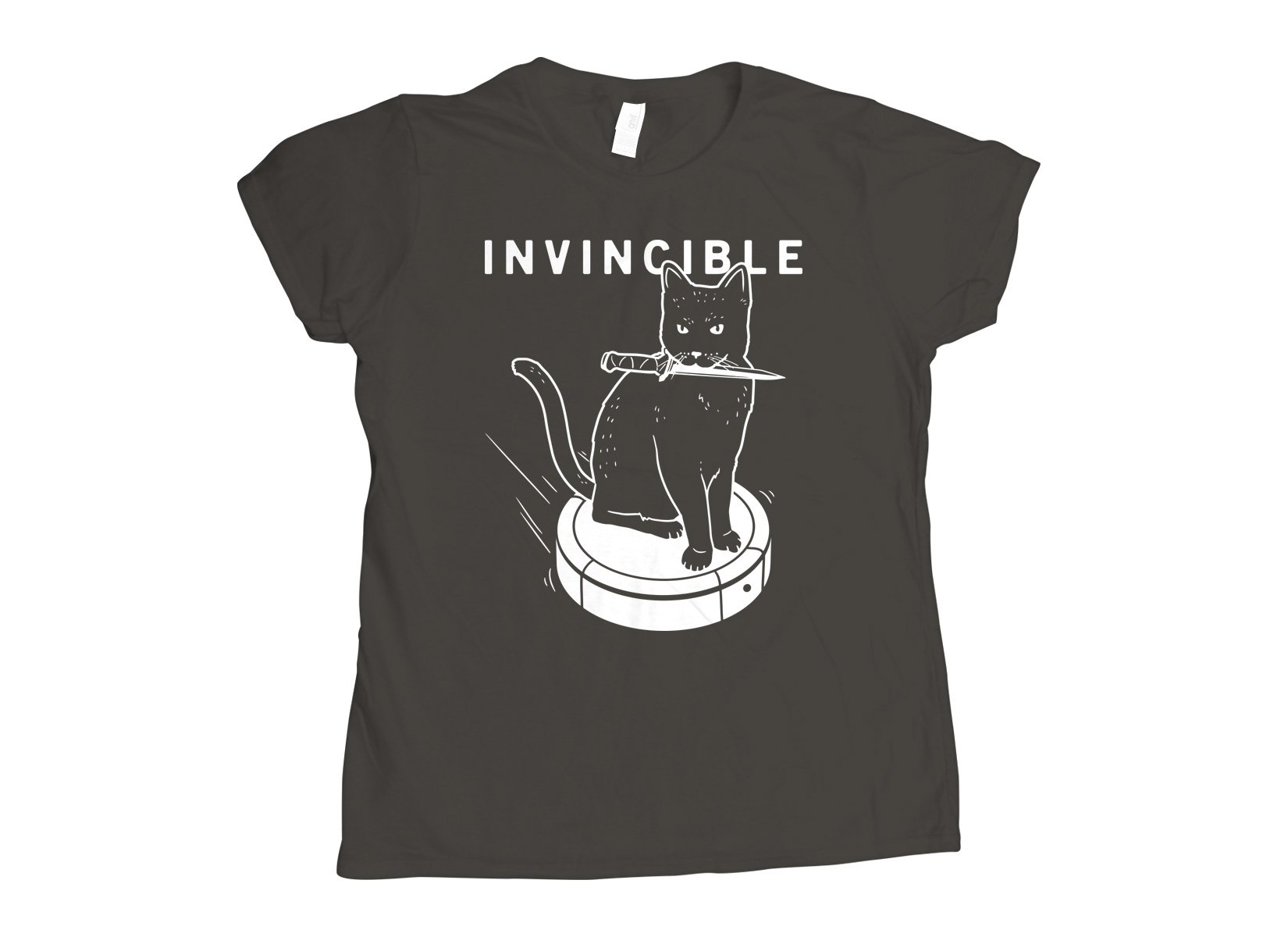 Invincible Cat on Womens T-Shirt