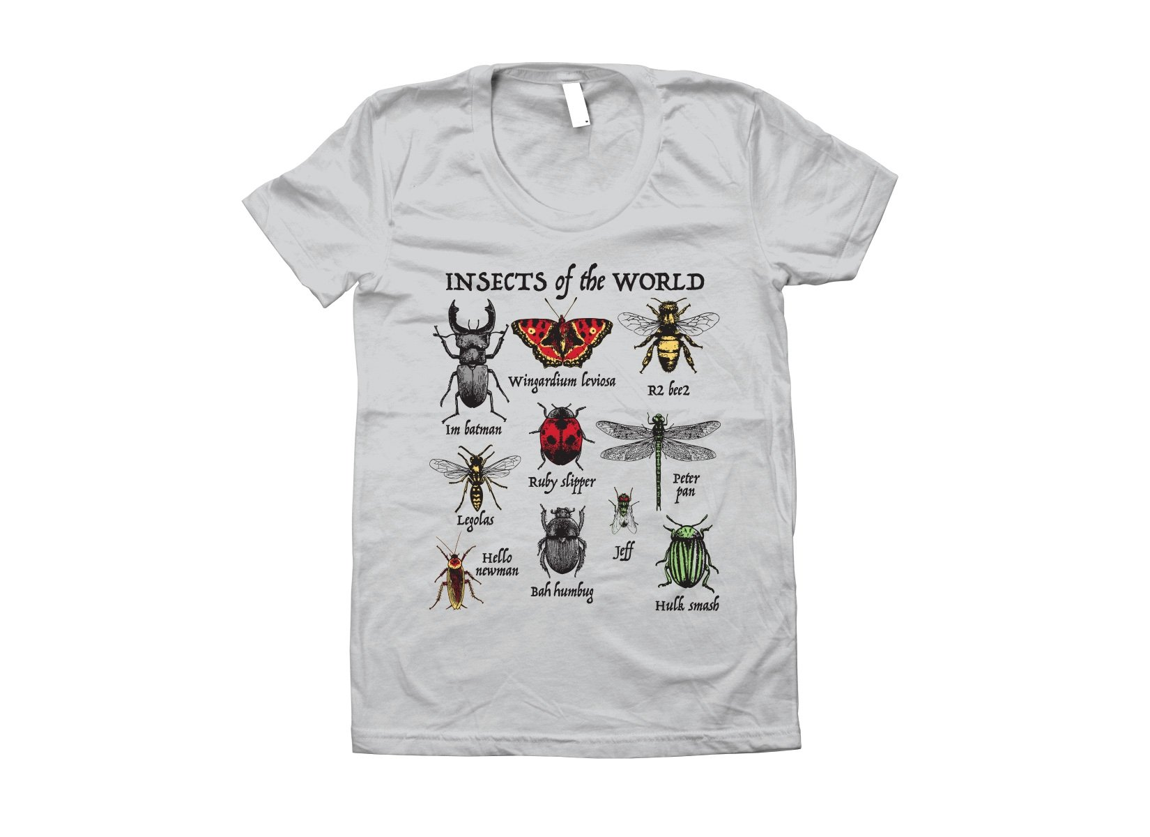 Insects Of The World on Juniors T-Shirt