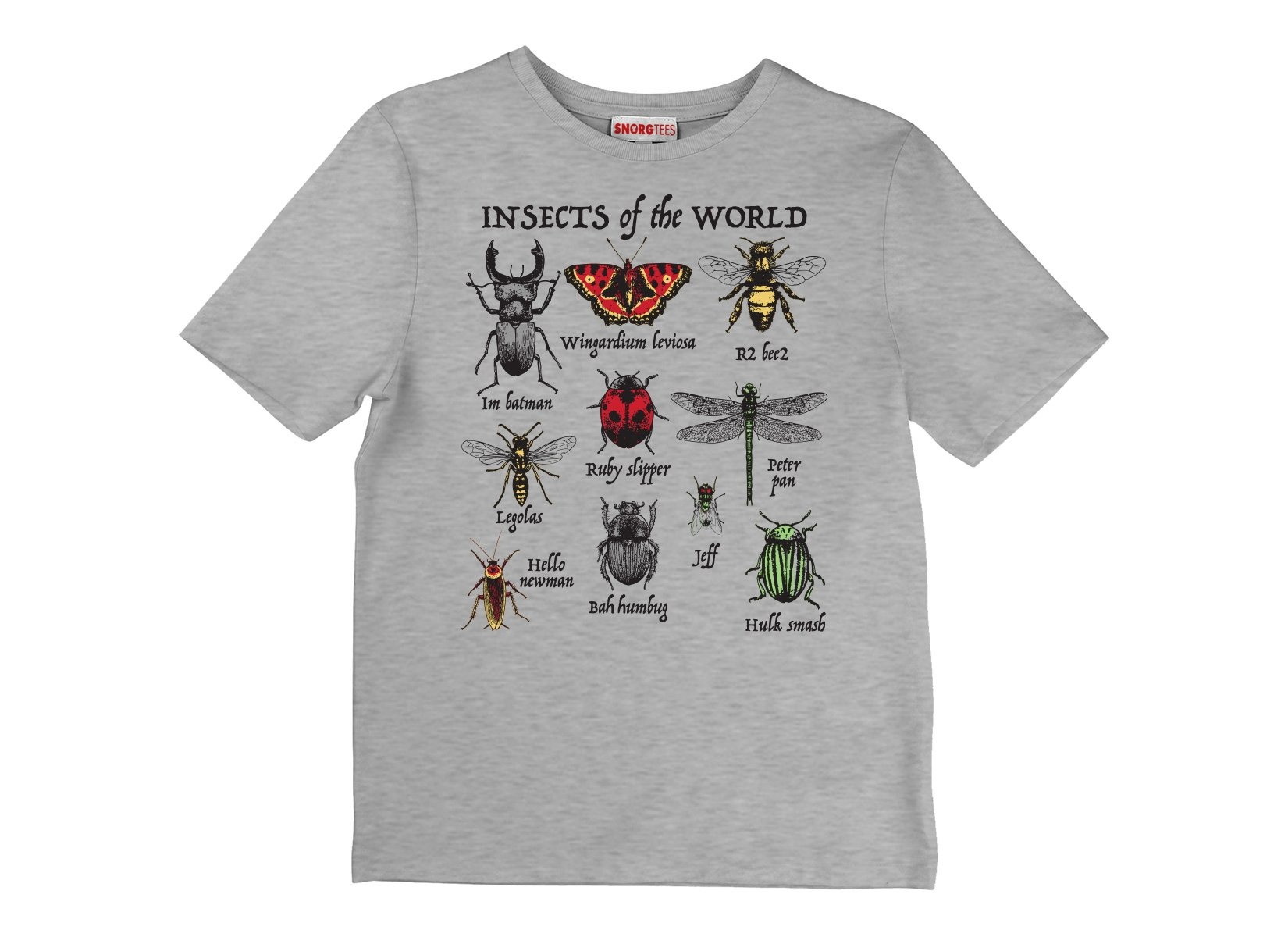 Insects Of The World on Kids T-Shirt