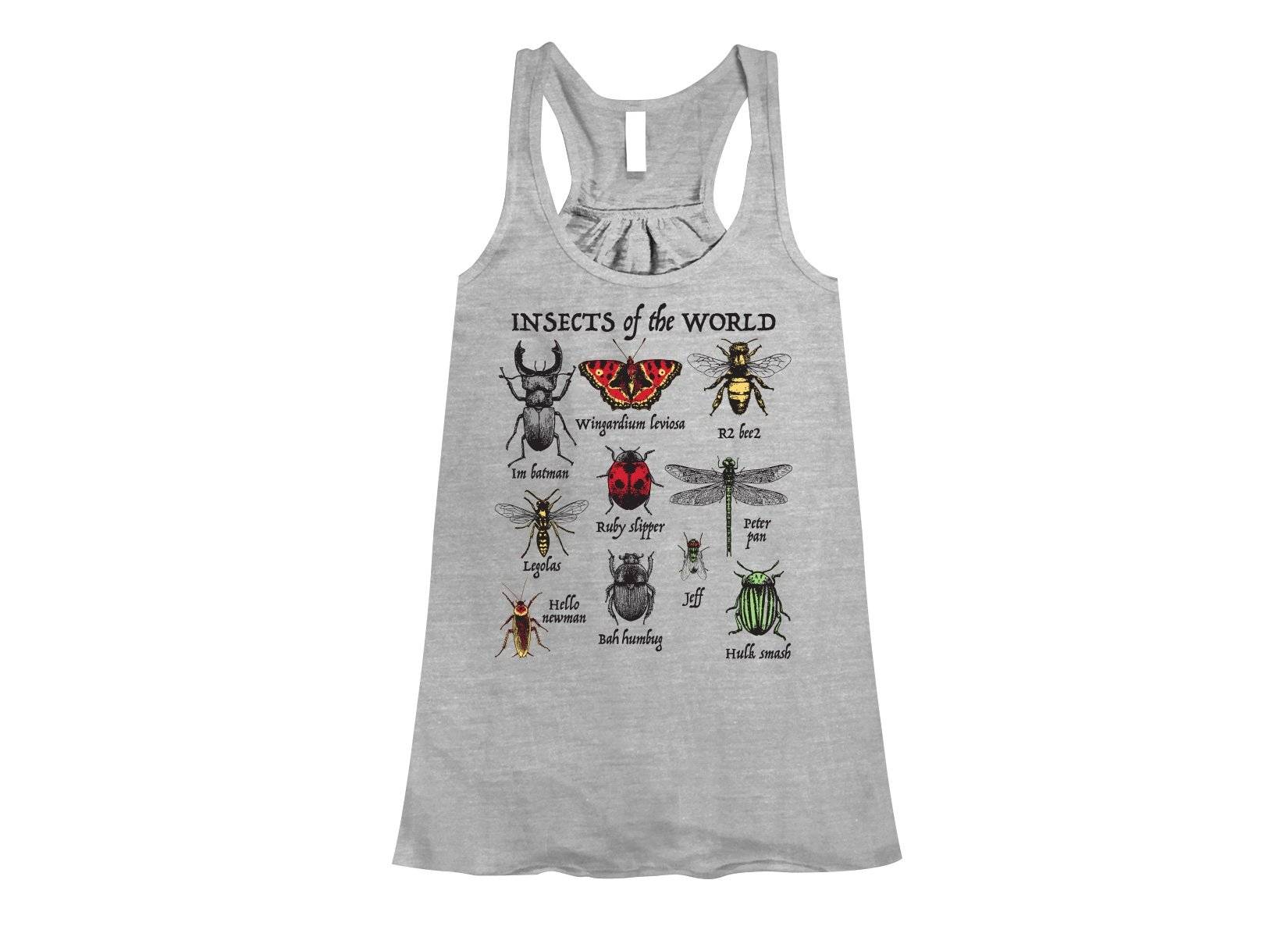 Insects Of The World on Womens Tanks T-Shirt