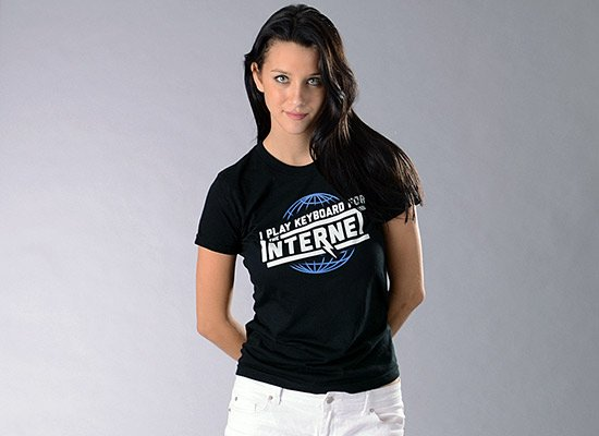 I Play Keyboard For The Internet on Juniors T-Shirt