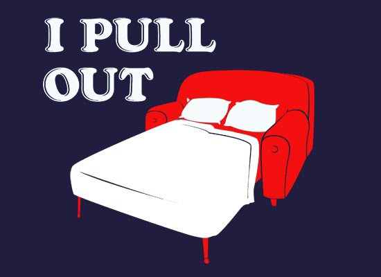 I Pull Out on Mens T-Shirt