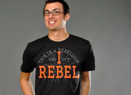 I Rebel on Mens T-Shirt