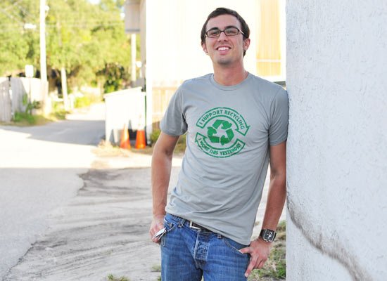I Support Recycling on Mens T-Shirt