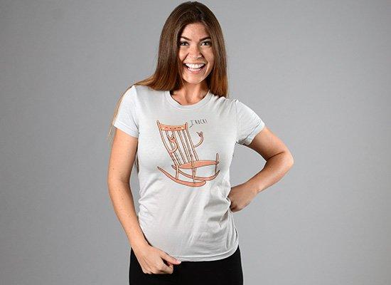 I Rock! on Juniors T-Shirt