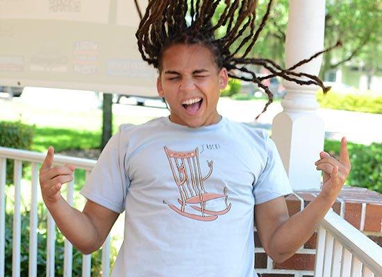 I Rock! on Mens T-Shirt