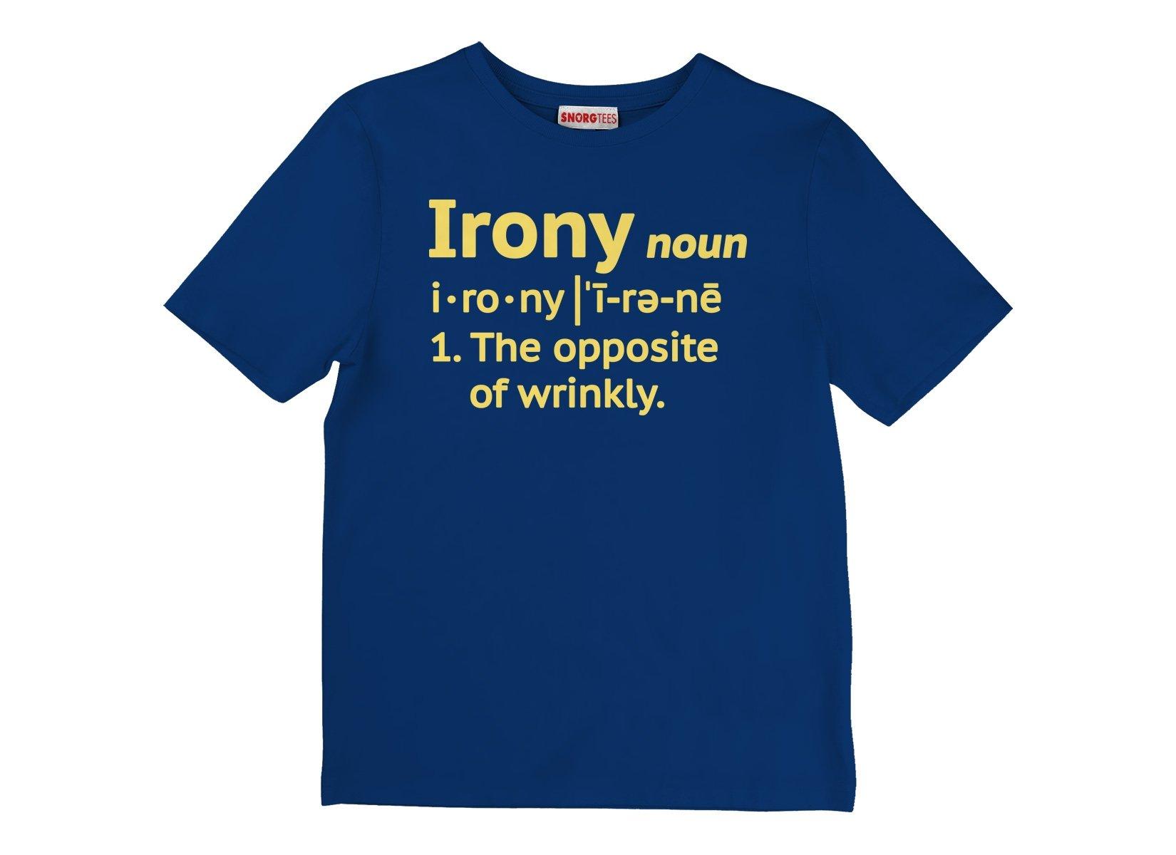 Irony Definition on Kids T-Shirt